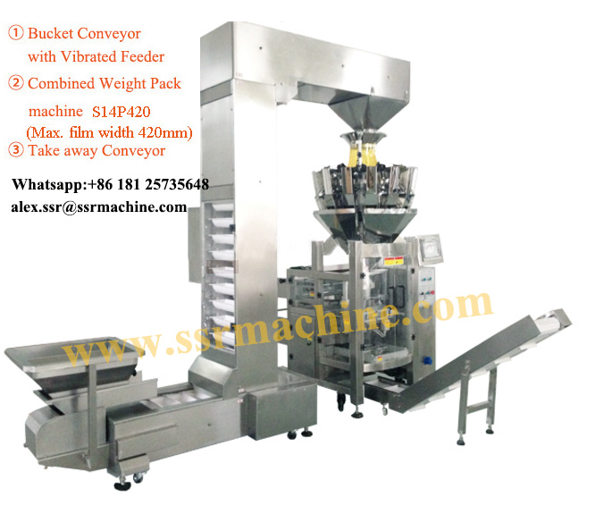 Electronic Scale Automatic Weighing Packaging line with auto loader