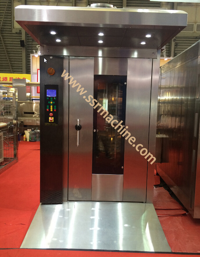 High efficient 30 trays bakery rotary oven for toast bread industry